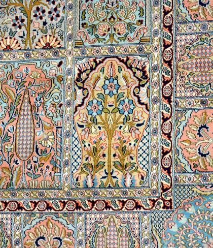 Kaschmir seidenteppich