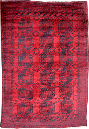 Semi Alter Roter Afghan Teppich Teppichportal Ch